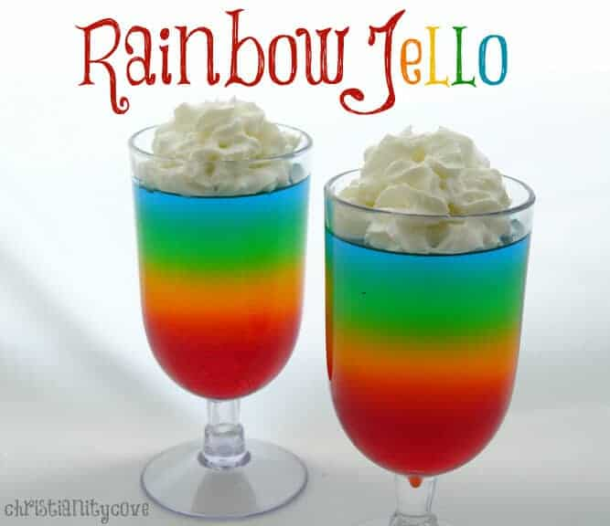 Rainbow Jello by Christianity Cove