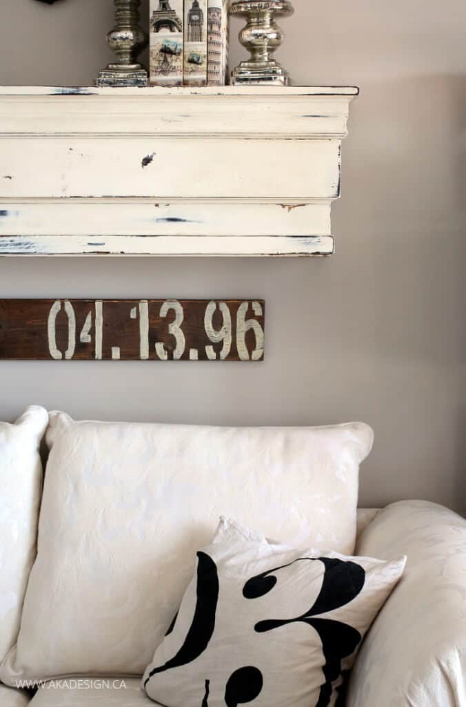 Special Date Stenciled Sign by AKA Design
