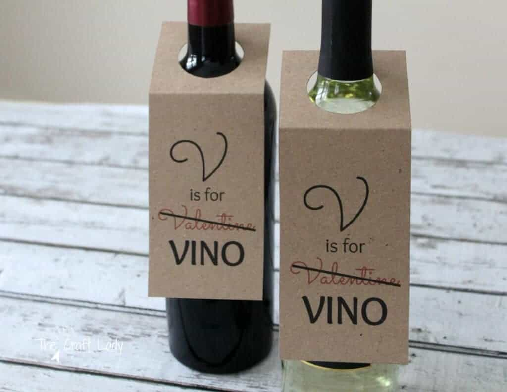 V is for Vino Wine Gift Tags by Crazy Craft Lady