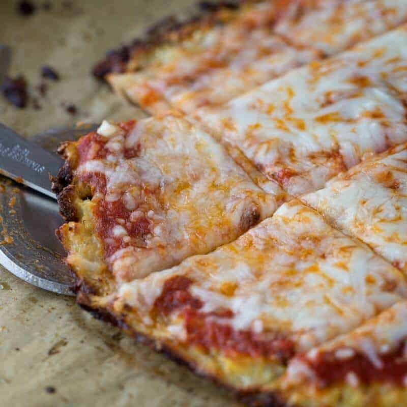 cauliflower pizza crust square featured image