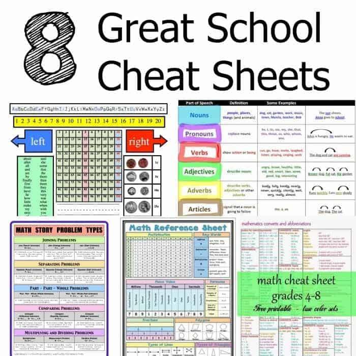 School Cheat Sheets - Princess Pinky Girl