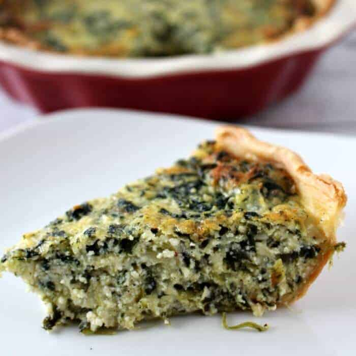 Super Easy Spinach Pie - Princess Pinky Girl