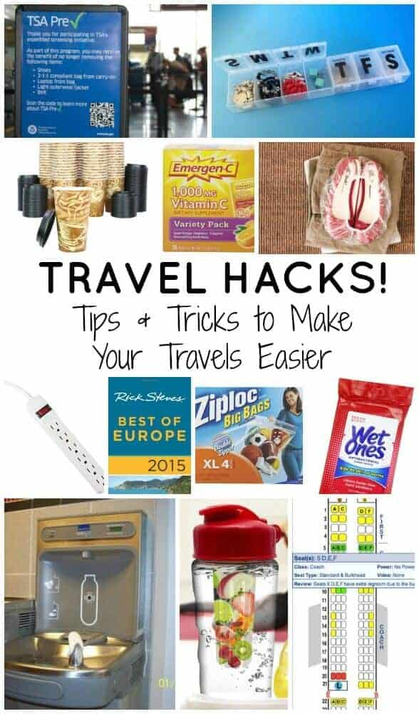 travel hacks - tips and tricks to make your travels easier
