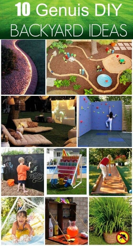 10 Genius DIY Backyard Ideas which will transform your backyard into an oasis!
