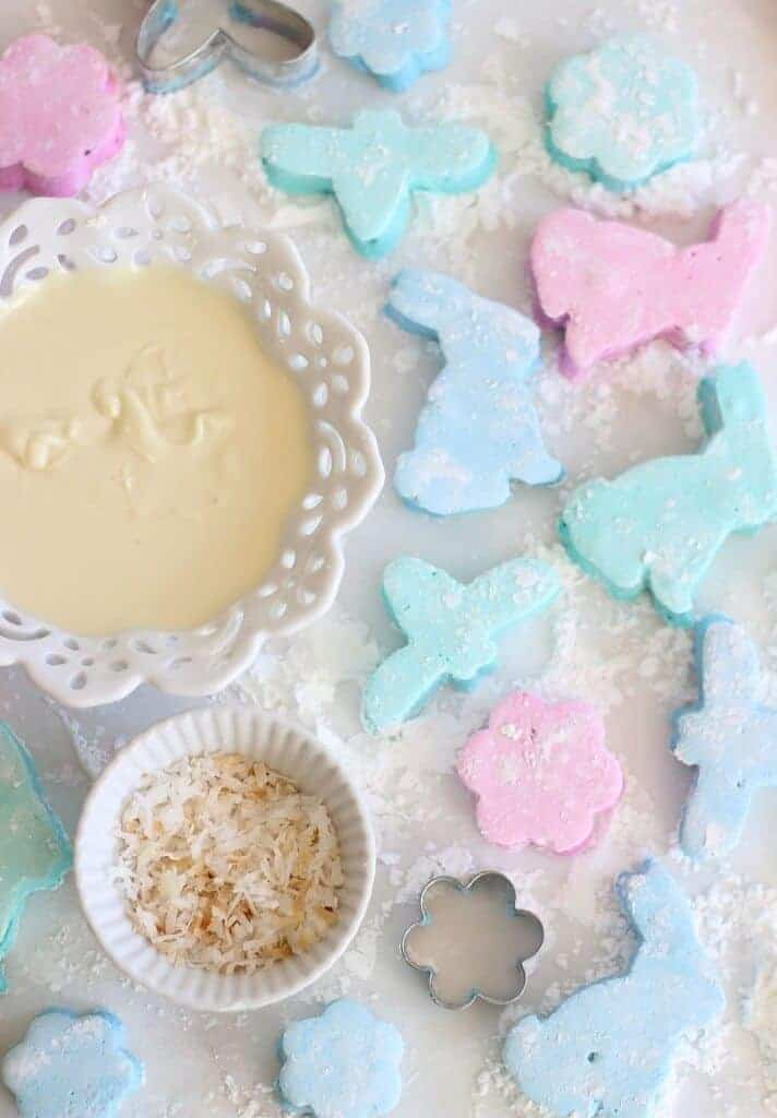Bunny Dipped Coconut Marshmallows by The Golding Girl