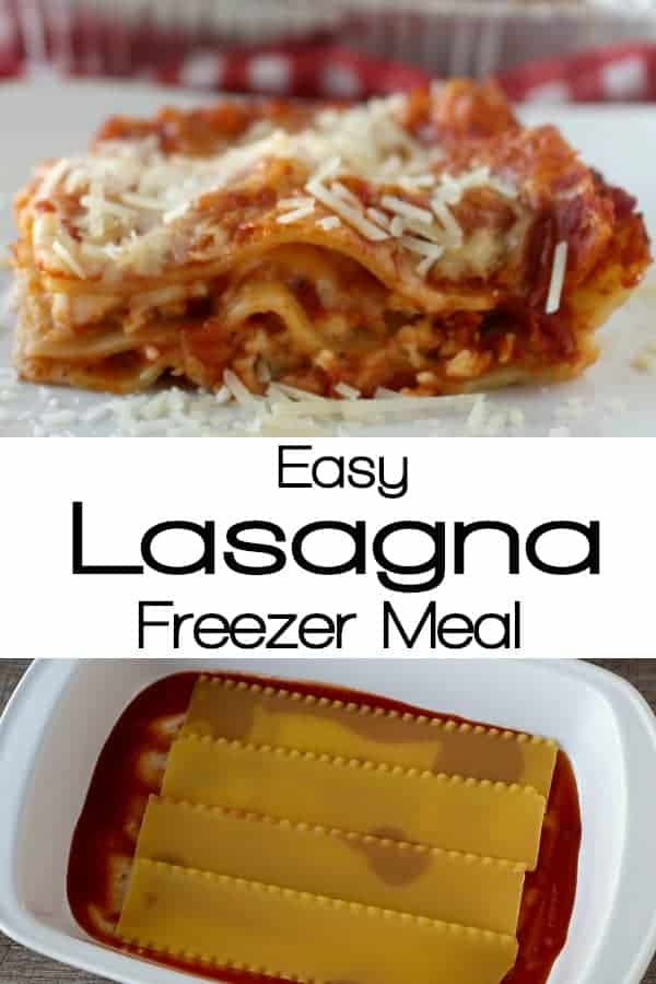 Easy Lasagna Freezer Meal