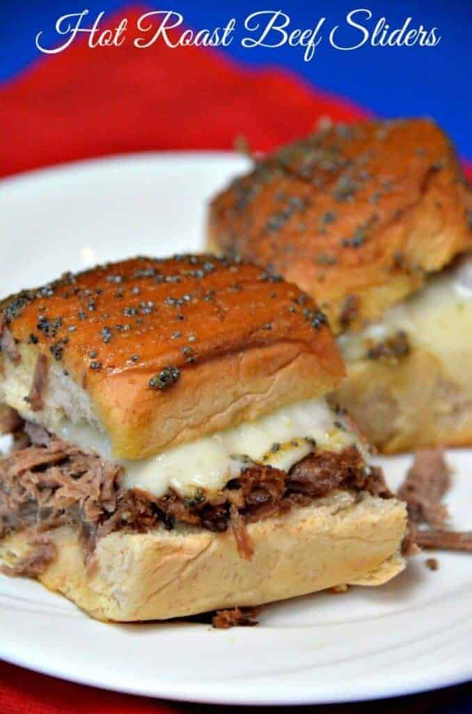 Hot roast beef sliders