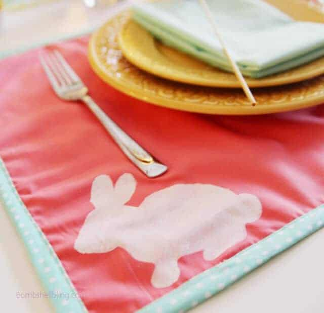 Bunny Placemats by Bombshell Bling