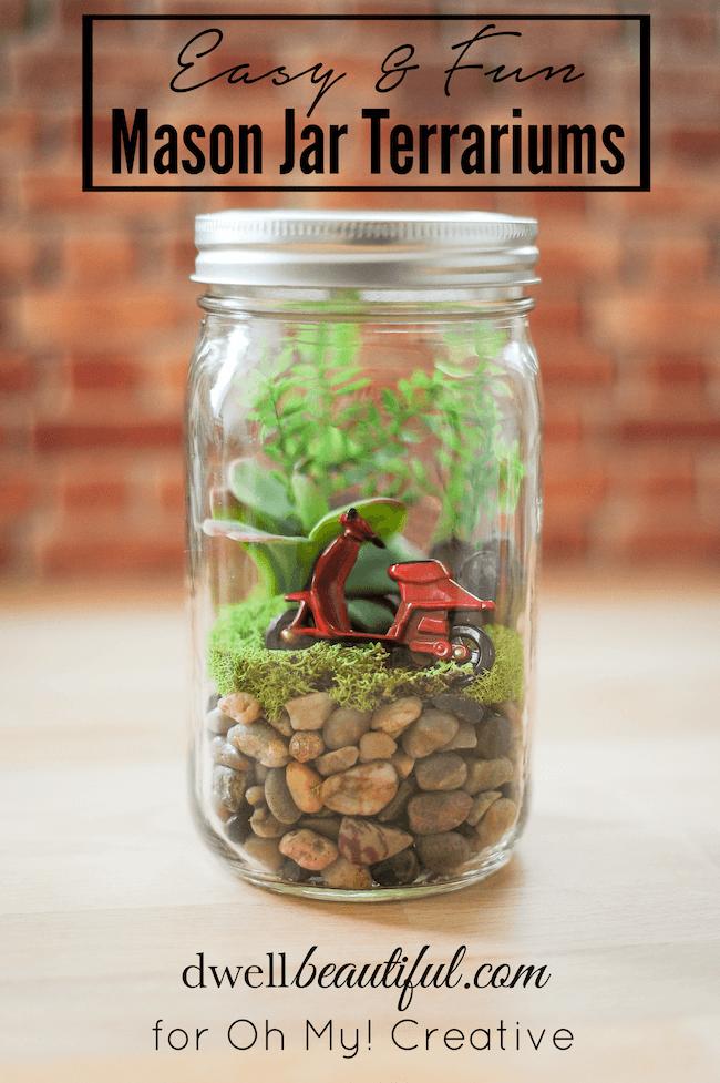 Mason Jar Terrariums by Oh My Creative