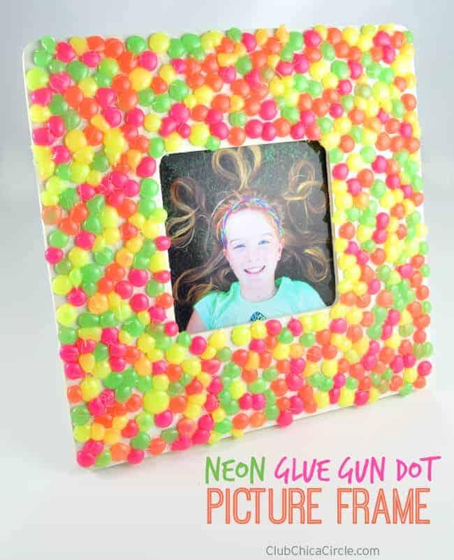 Neon Glue Gun Dot Frame by Chica Circle