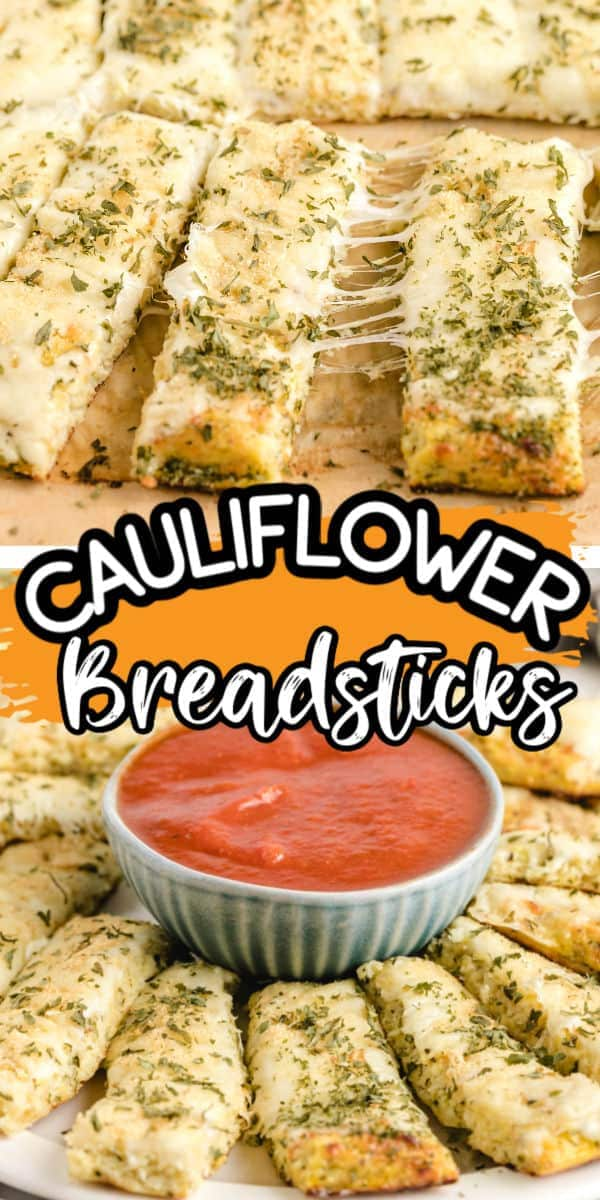 Cauliflower Breadsticks Pinterest
