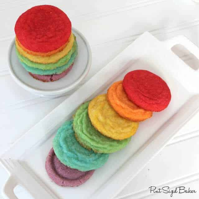 Rainbow Jello Cookies by Pint Sized Baker