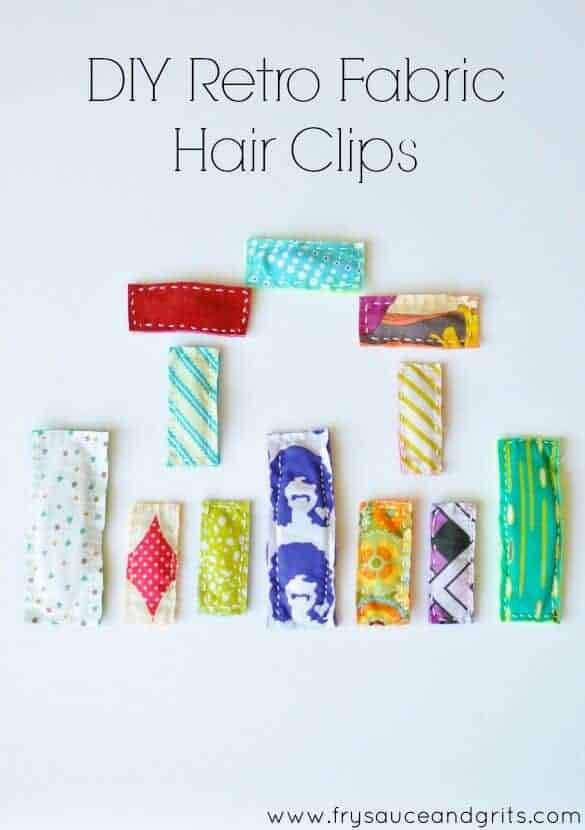 Retro Fabric Hair Clips by Fry Sauce and Grits