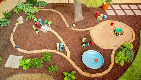 Create your own DIY Backyard play area and other great backyard ideas