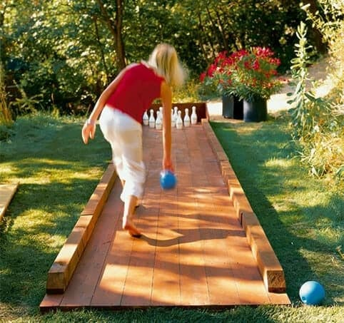 Build a backyard bowling alley for your backyard and other great backyard ideas