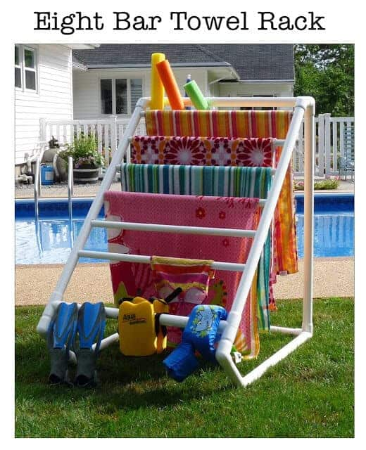 pvc_pool_towel_rack