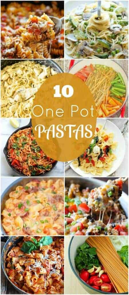 One pot is all you need! One Pot Pasta Dishes are an easy and delicious way to make a quick family dinner without all of the mess!
