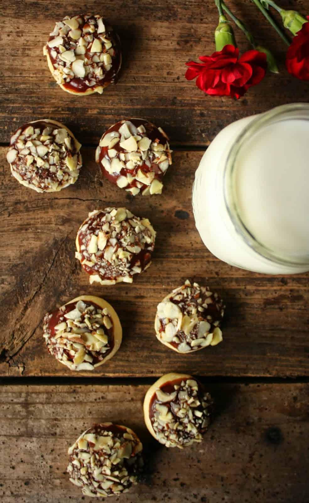 Cardamon Nutella Almond Crunch Cookies