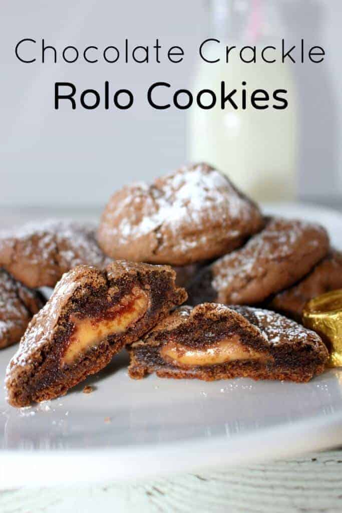 Chocolate Crackle Rolo Cookies - delicious and easy to make