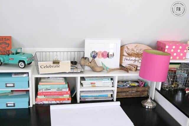 Colorful Home Office by Finding HOme