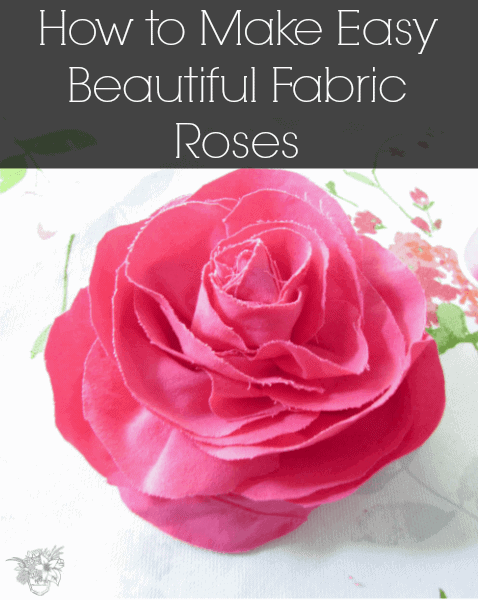 Fabric Roses by Pocket of Posies