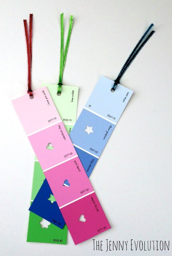 Paint Chip Bookmarks by THe Jenny Revolution