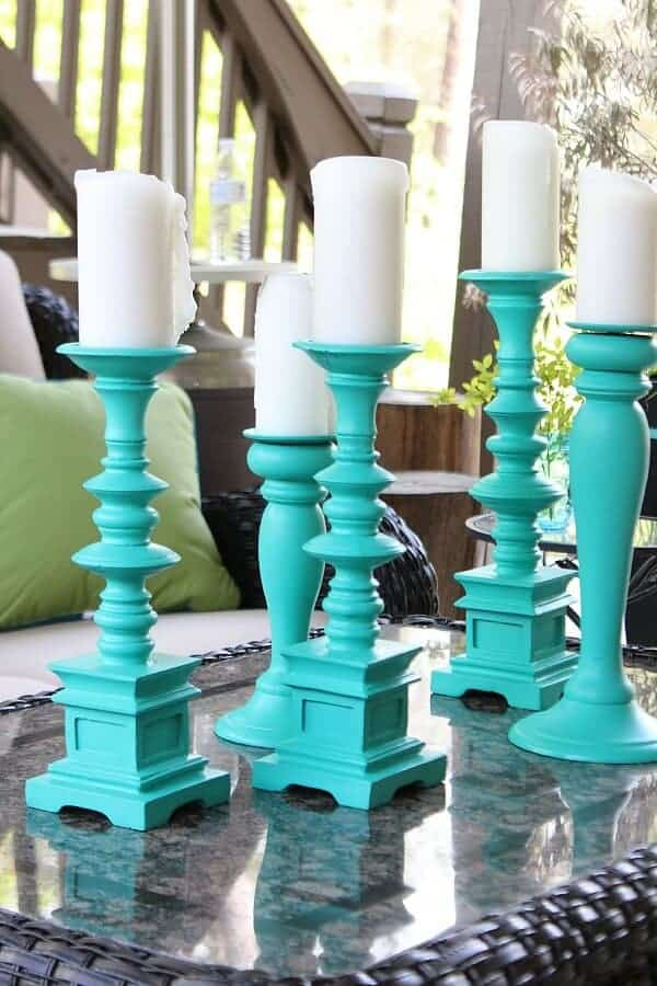 Spray Painted Patio Candle Holders by Refresh Restyle