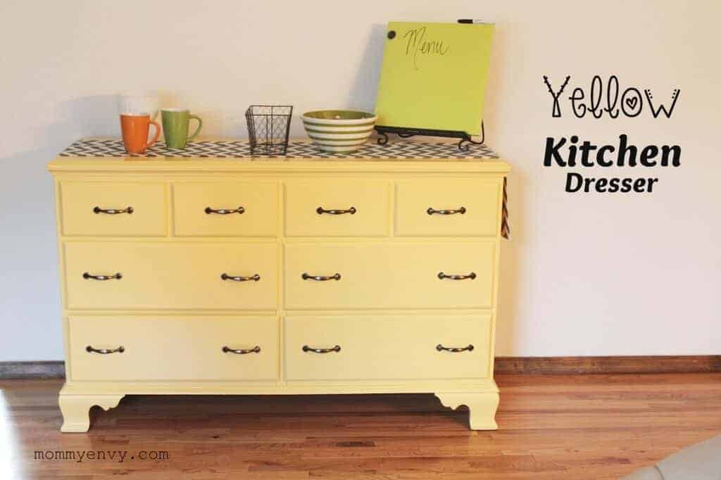 Yellow Kitchen Dresser by THe Jenny Evolution