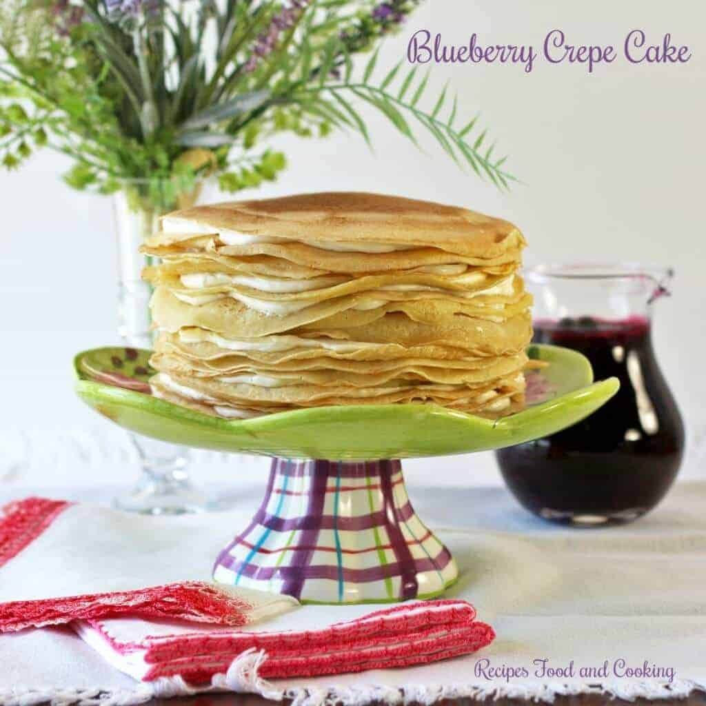 blueberry crepe cake 2