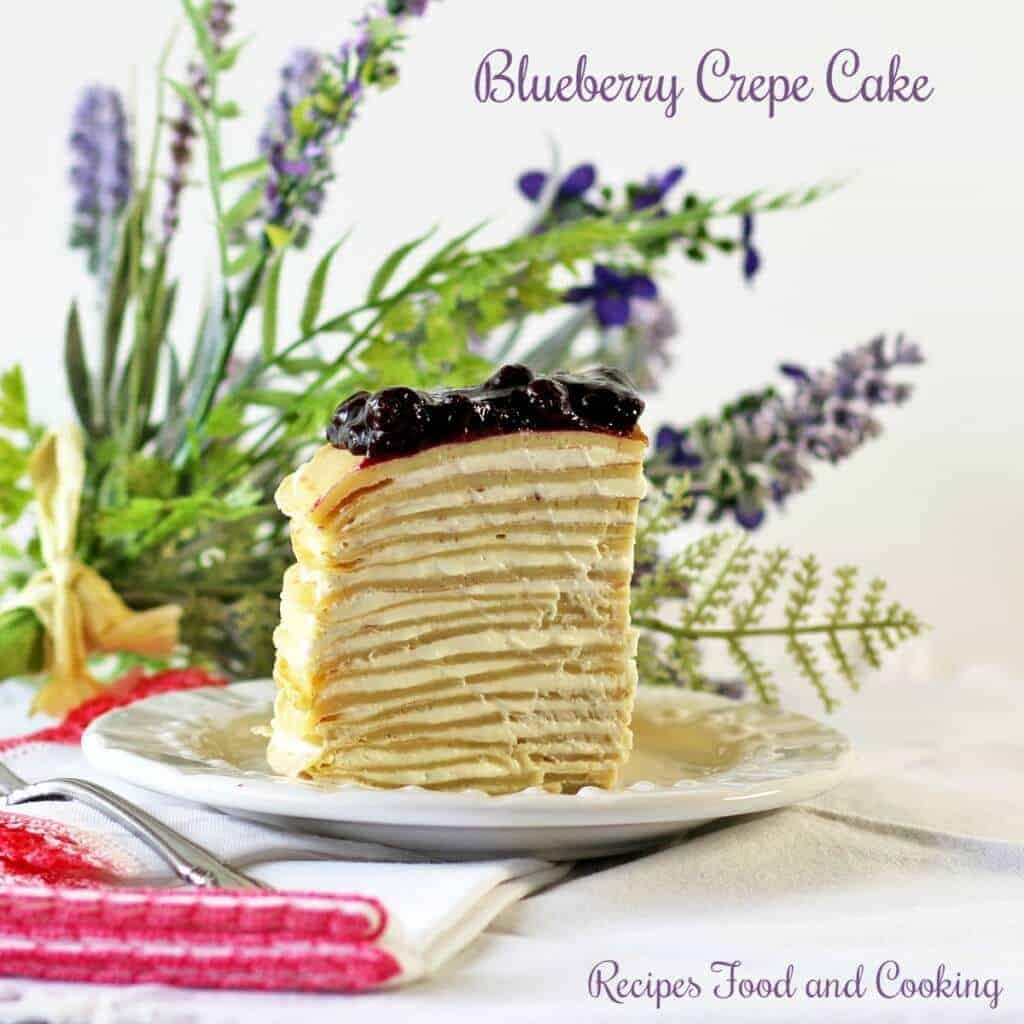 blueberry crepe cake 3