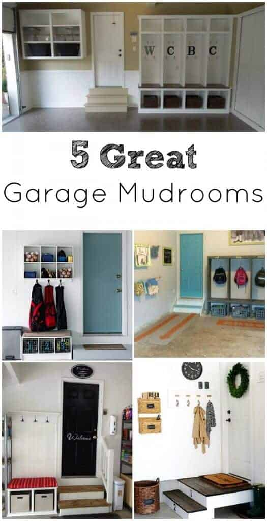 5 great garage mudrooms princess pinky girl for Garage mudroom