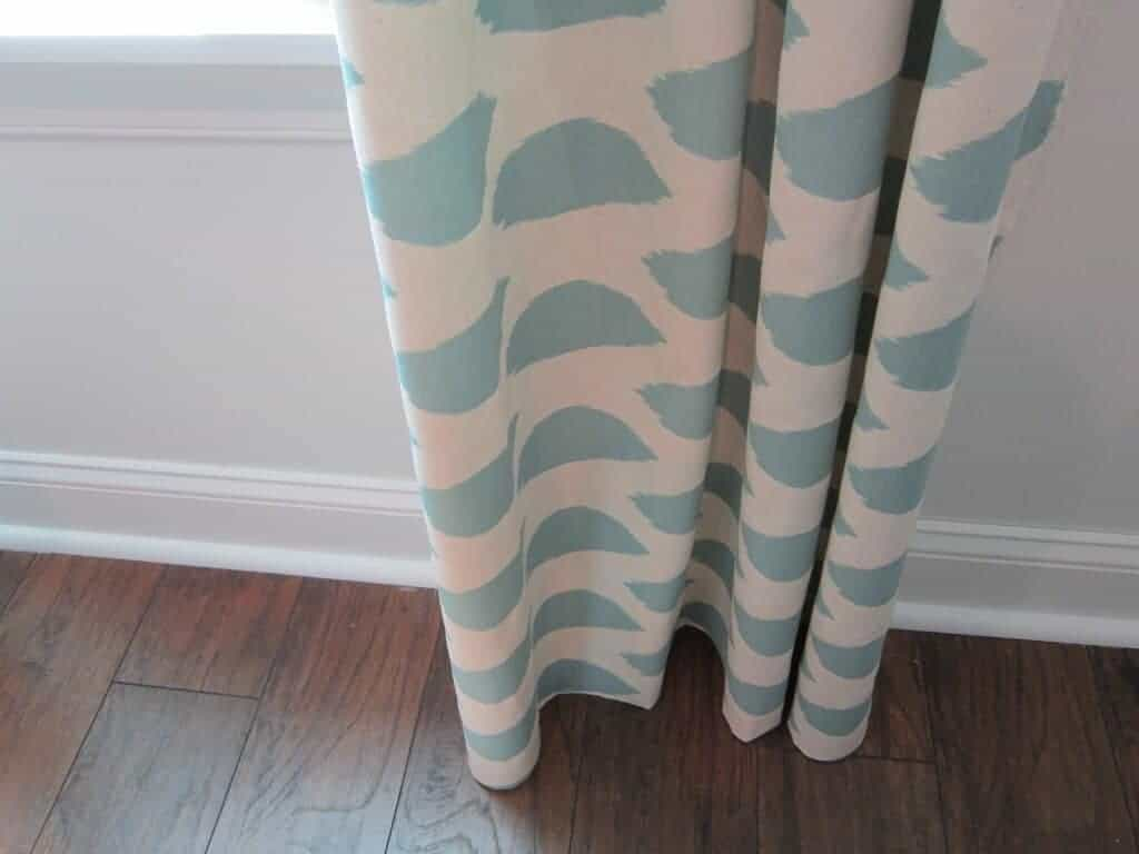 no sew curtains by The Honeycomb Home