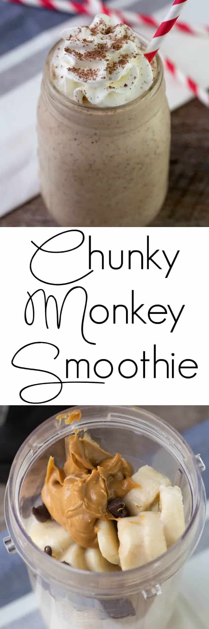 Chunky Monkey Smoothie! A great after school snack or easy breakfast and it is gluten free!