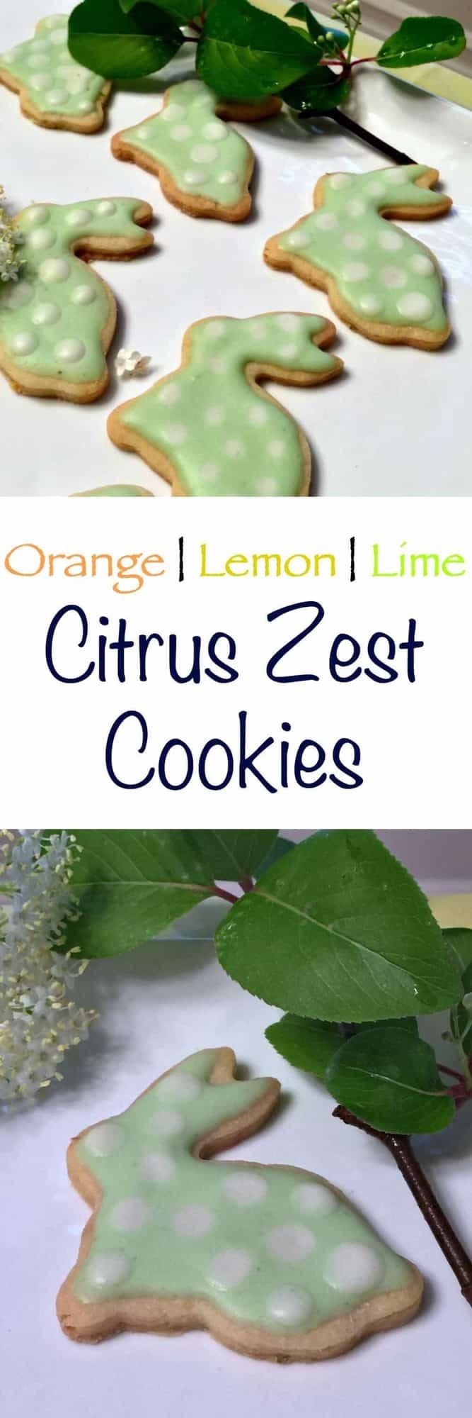 Citrus Zest Cookies - Orange Lemon and Lime butter cookies