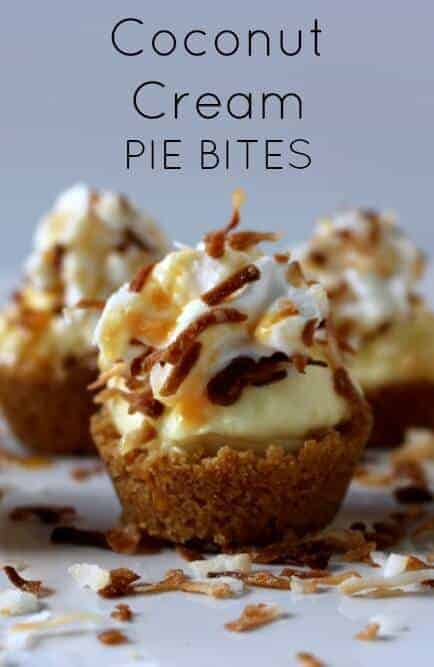 Coconut Cream Pie Bites - A mouth full of deliciousness in every bite