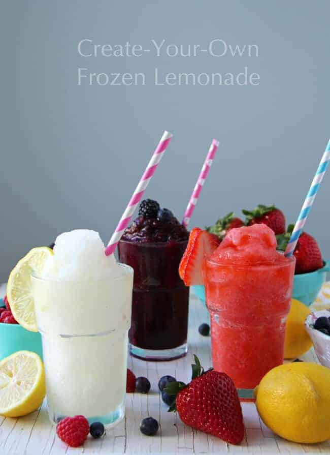 Frozen Lemonade Bar by A Pretty Life in the Suburbs