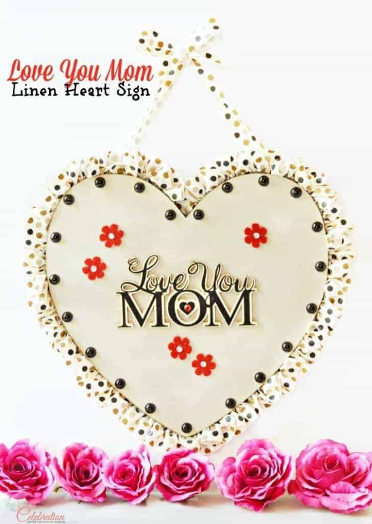 Love you Mom sign by Little Miss Celebration
