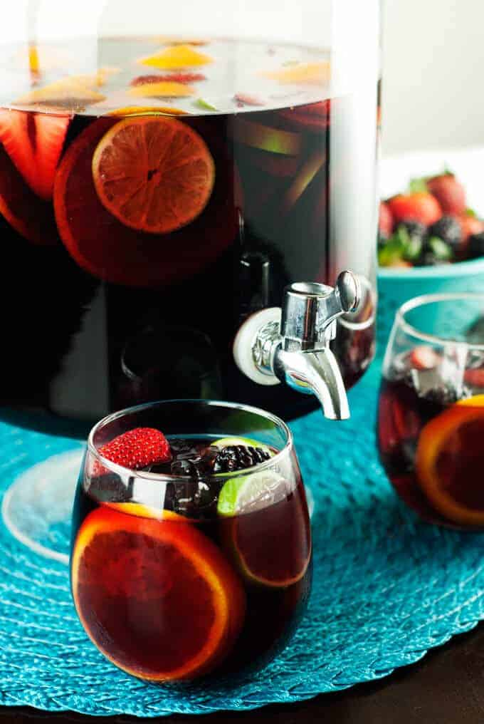 Red Sangria by A Simple Pantry
