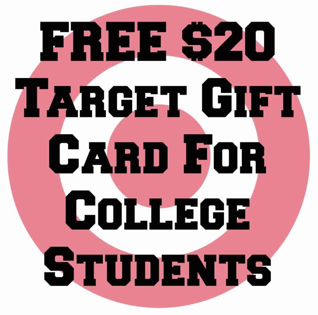 Target Lover Alert! College Students Get $20 Target Gift Card!