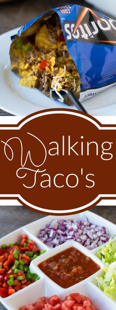 Walking Tacos Bar - a great dinner for a big crowd!