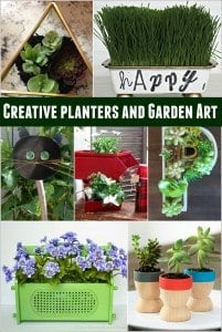 Creative Planters and Garden Art Ideas featured on Simply Designing