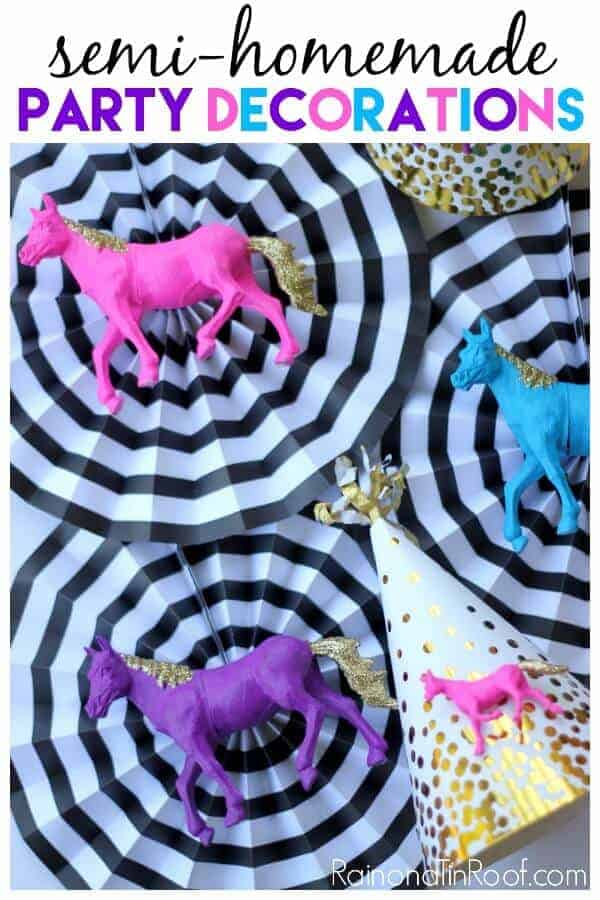 DIY Party Decorations by Rain on a Tin Roof