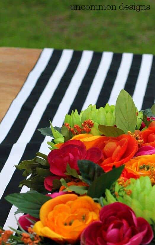 Easy No-Sew Table Runner from Uncommon Designs
