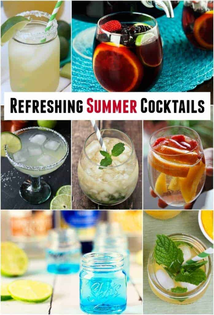 Refreshing Summer Cocktails featured on Princess Pinky Girl