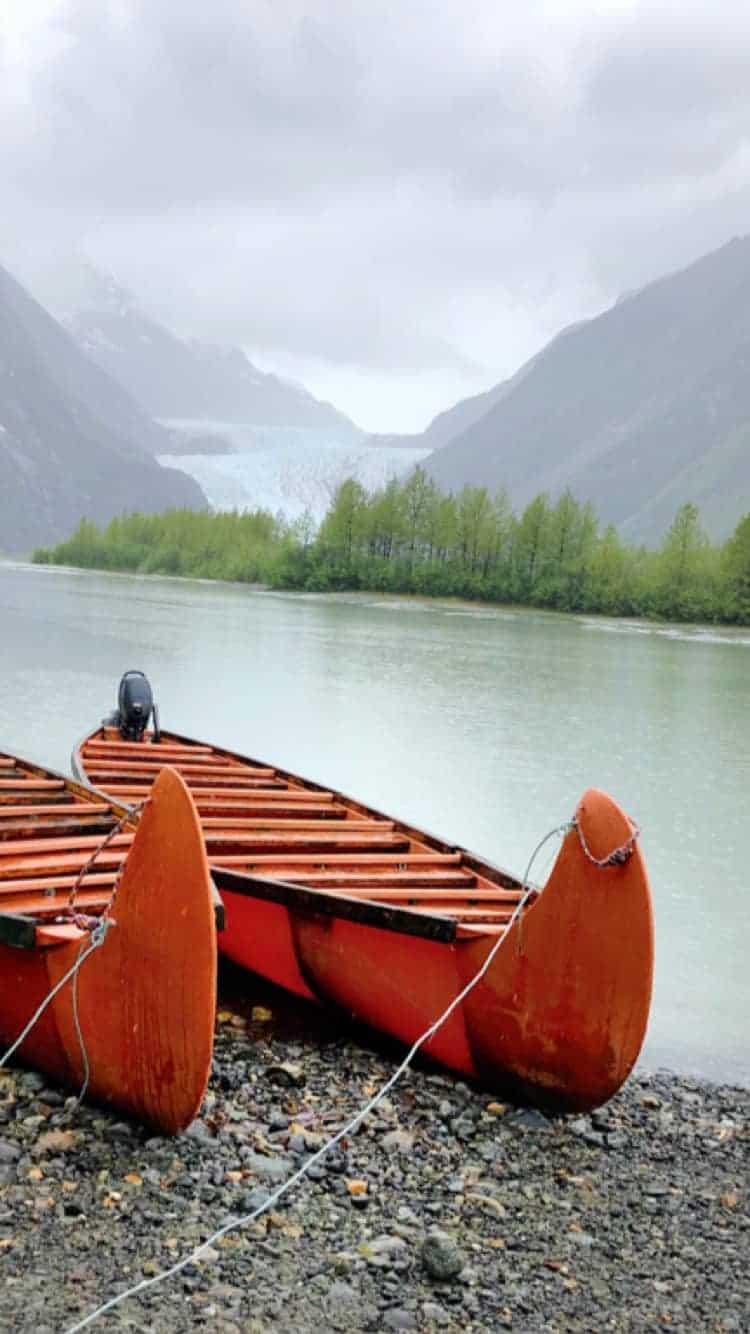 Alaska Cruise Canoe to Glacier Excursion