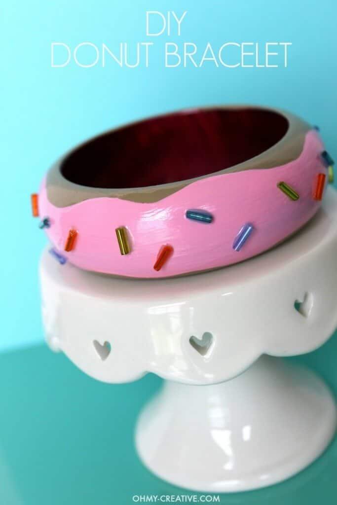 DIY Donut Bracelet by Oh My Creative