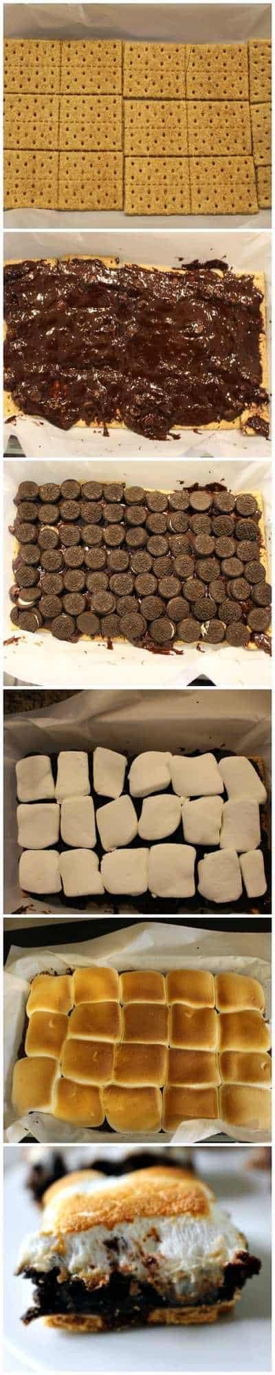 How to make a SmOreo - Smore Oreo Brownie Bar