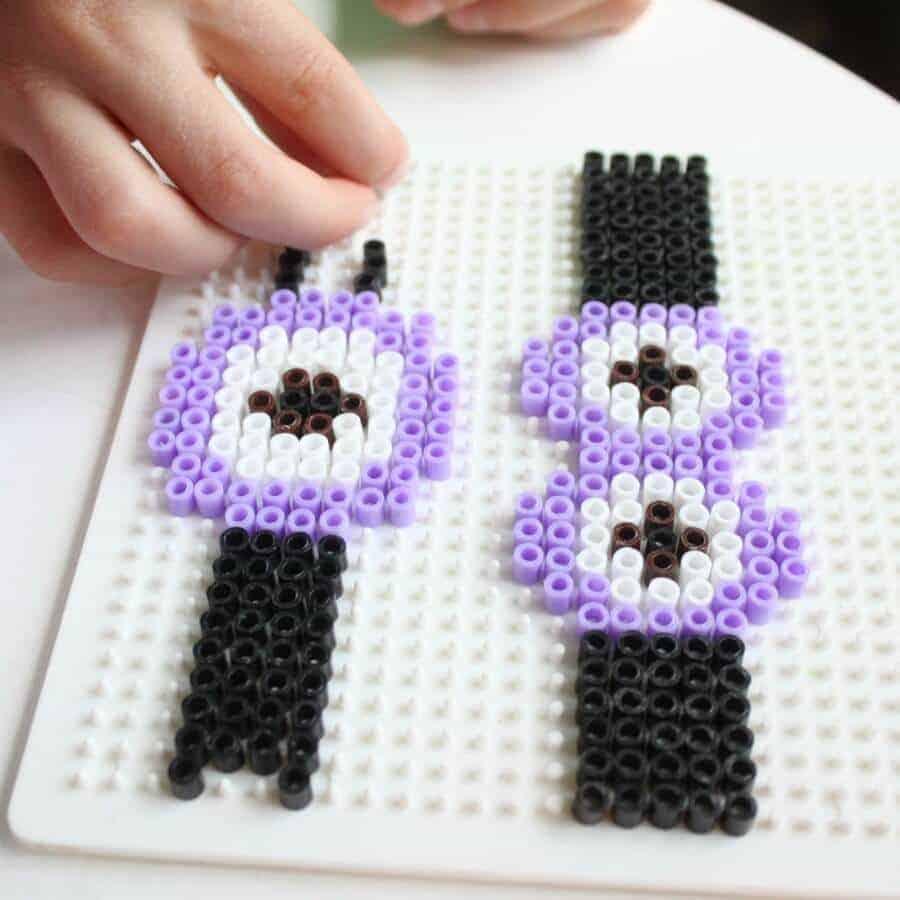 Perler Bead Minion Bracelet by Naptime Creations