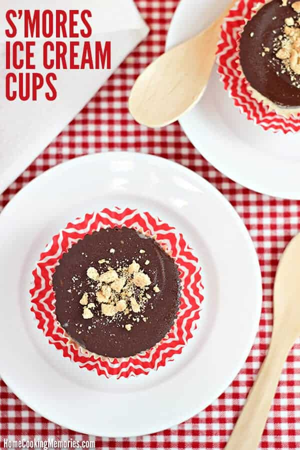 Smores Ice Cream Cups by Home Cooking Memories