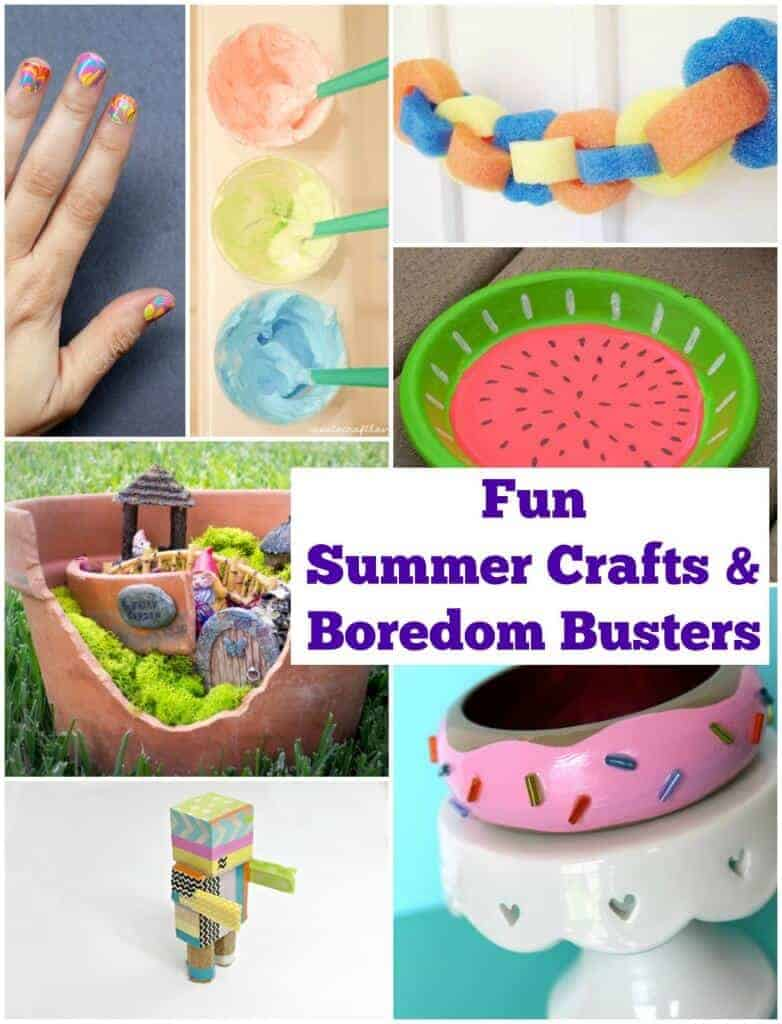 Summer Kids Craft Ideas and Boredom Busters